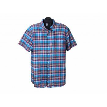 Рубашка льняная мужская в клетку DRESSMANN, XL