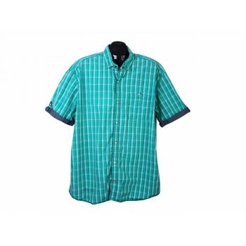 Мужская зеленая рубашка в клетку S.OLIVER, XXL