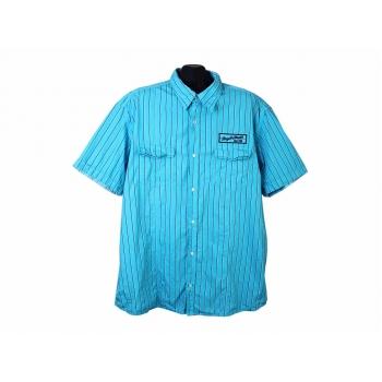 Мужская голубая рубашка в полоску S.OLIVER, XXL