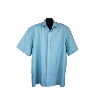 Мужская голубая рубашка MODERN FIT ETERNA, XXL