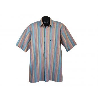 Рубашка мужская в цветную полоску ENGBERS, XL