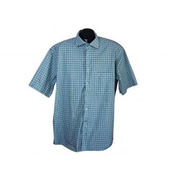 Рубашка мужская зеленая в синюю клетку COMFORT FIT ETERNA, XL