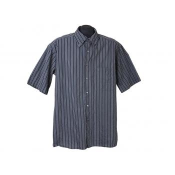 Рубашка мужская серая в полоску ETERNA, L