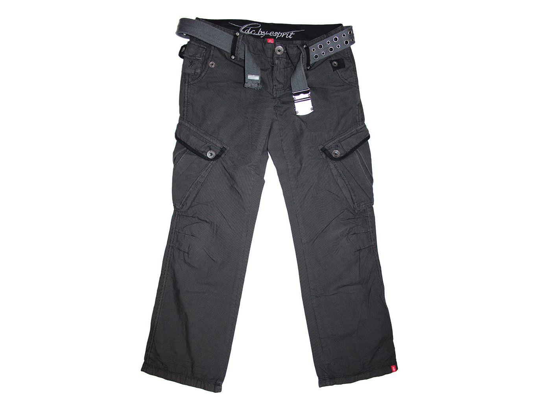 914e9b2d4ac Женские серые брюки с поясом ESPRIT