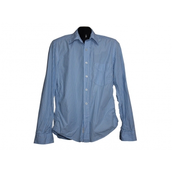 Мужская голубая рубашка в полоску L.O.G.G. by H&M