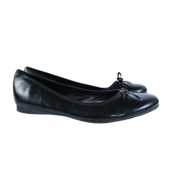 Женские кожаные черные балетки ZONE 39 размер