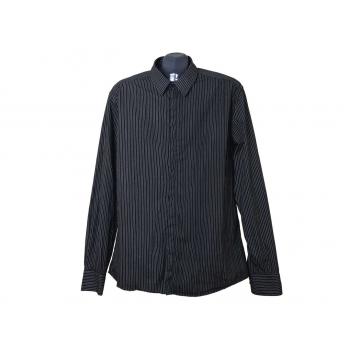 Мужская черная рубашка в полоску REVIEW, L