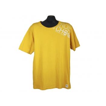 Мужская желтая футболка CROSSHATCH, L