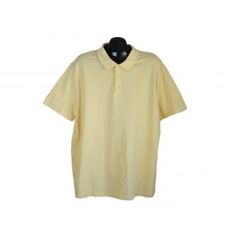 Поло мужское желтое GEORGE, XL