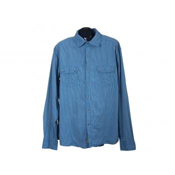 Мужская синяя рубашка в полоску ESPRIT, XL