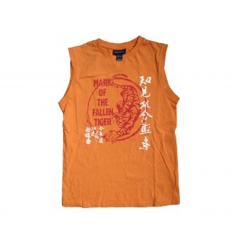 Футболка безрукавка на мальчика 10-12 лет оранжевая H&M