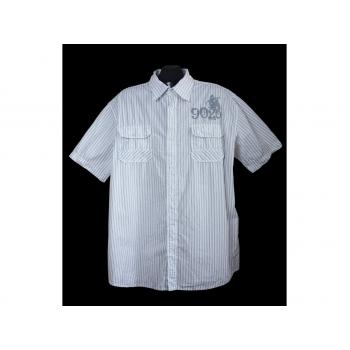 Мужская белая рубашка в полоску ACCANTO, XL