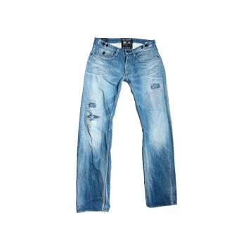 Мужские голубые рваные джинсы на высокий рост W 34 KUIYCHI pure premium