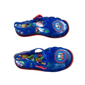 Детские синие силиконовые сандалии на мальчика 3-5 лет