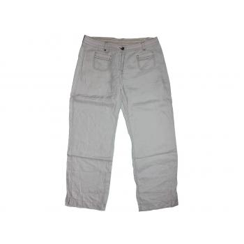 Женские серые льняные брюки MARKS & SPENCER, L