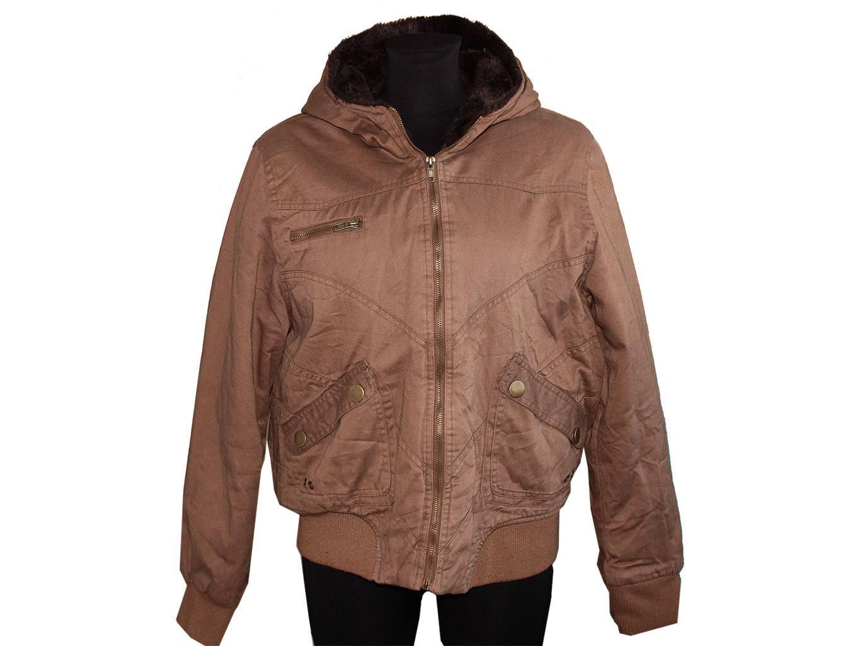 Женская коричневая куртка осень зима E-VIE, L