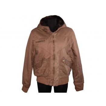 Женская коричневая куртка осень зима E-VIE