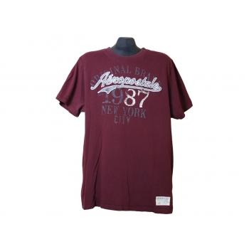 Мужская бордовая футболка AEROPOSTALE, L