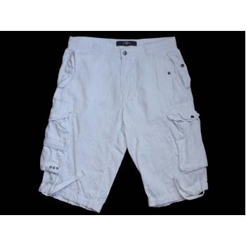 Мужские шорты карго белые льняные LOGG by H&M W 34