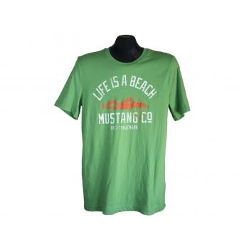 Футболка мужская зеленая MUSTANG, S