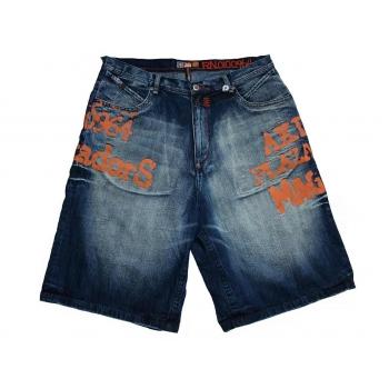 Шорты джинсовые мужские широкие AKADEMIKS W 40