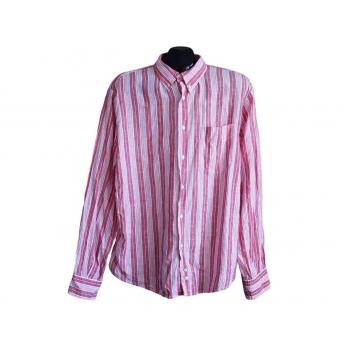 Рубашка мужская в полоску SIX VALVES, L