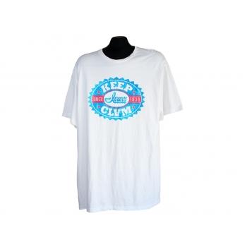 Футболка мужская белая с принтом KEEP CLAM, XL