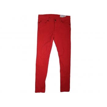 Джинсы женские красные узкие RELIGION, XL