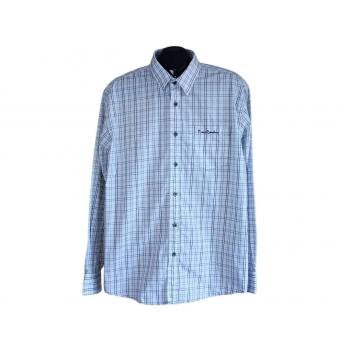 Мужская белая рубашка в клетку PIERRE CARDIN, XL