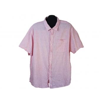 Тенниска мужская льняная розовая EASY, XL