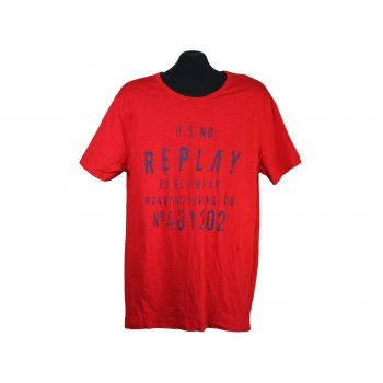 Футболка мужская красная REPLAY beachwear, L