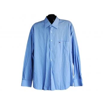 Рубашка мужская голубая в полоску TOMMY HILFIGER, XL