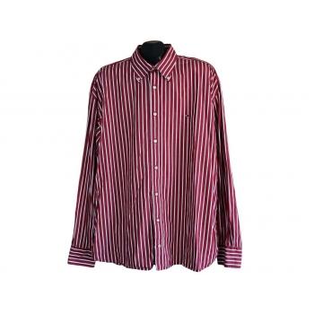 Рубашка мужская красная в полоску TOMMY HILFIGER