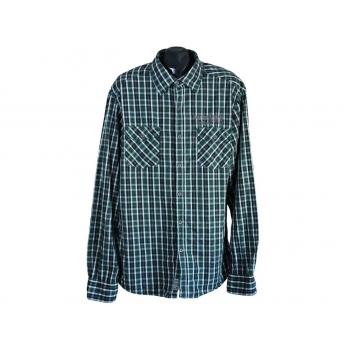 Рубашка мужская зеленая в клетку ESPRIT, XL