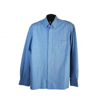 Мужская голубая рубашка в клетку ST. BERNARD