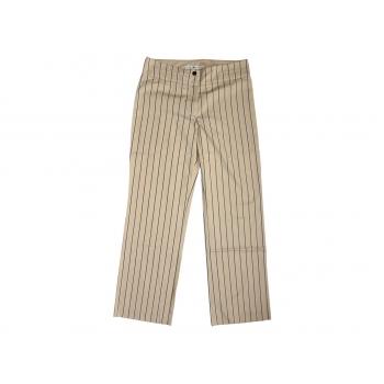 Женские бежевые брюки в полоску TOMMY HILFIGER, S