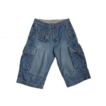 Детские длинные джинсовые шорты C & A на мальчика 12-16 лет