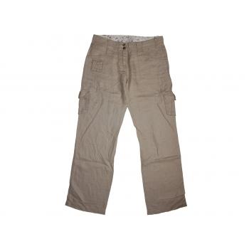 Женские коричневые льняные брюки TOM TAILOR, L