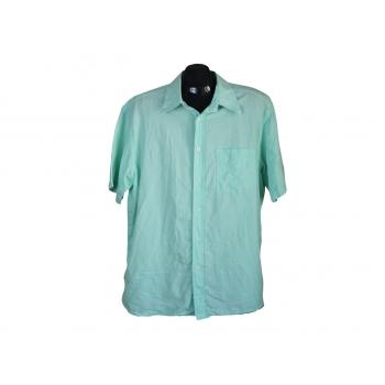 Мужская зеленая льняная рубашка BLUE HARBOUR, XL