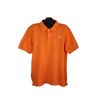 Поло мужское оранжевое ADIDAS, L