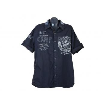 Мужская черная рубашка CAMP DAVID, XL