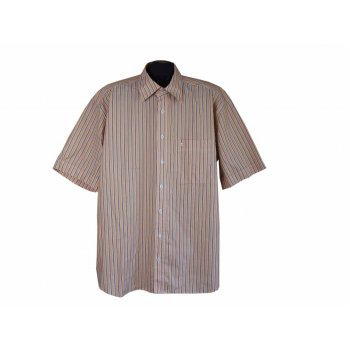 Рубашка мужская оранжевая в полоску ETERNA, XXL