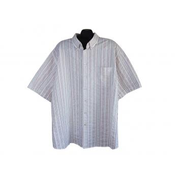 Рубашка мужская белая в полоску CANDA, 4XL