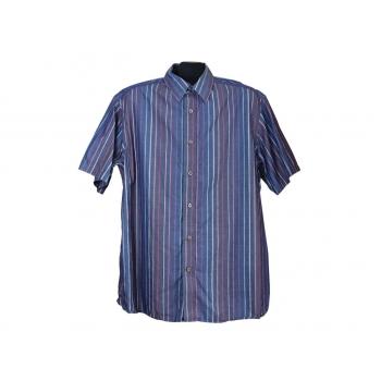 Мужская фиолетовая рубашка в полоску MARKS&SPENCER AUTOGRAPH, L