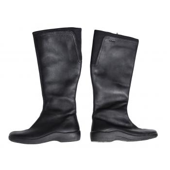 Женские черные кожаные сапоги CLARKS 36 размер
