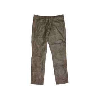 Брюки кожаные оливковые мужские TOPMAN W 32 L 33
