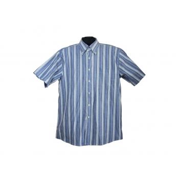 Мужская синяя рубашка в полоску LIKAS, L