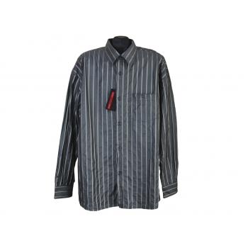 Рубашка мужская серая в полоску SIGNUM, XL