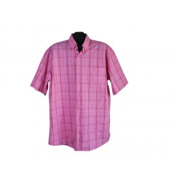 Рубашка мужская розовая в клетку UMBERTO ROSETTI, XXL