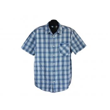 Рубашка мужская голубая в клетку WRANGLER, XL
